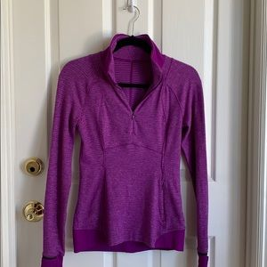 Lululemon purple quarterzip sweatshirt